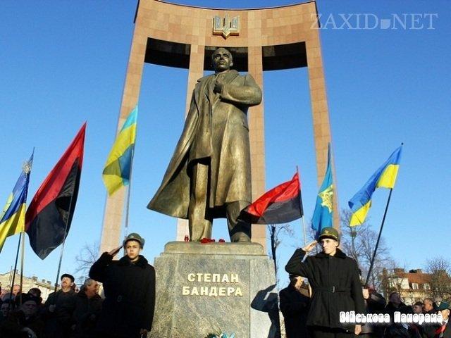 Львов, памятник Степану Бандере