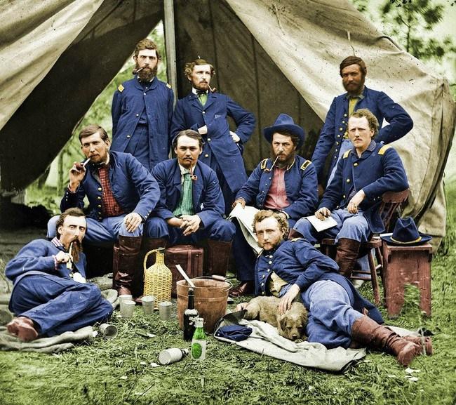 Джордж-Армстронг-Кастер-и-его-соратники-во-время-американской-гражданской-войны