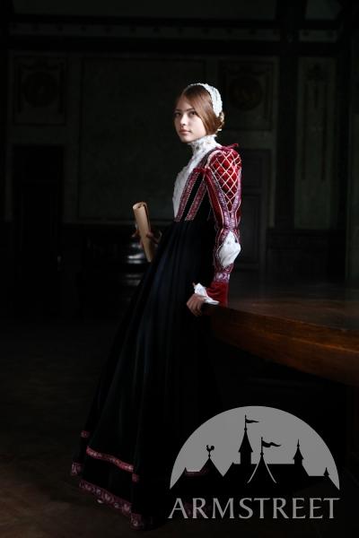 Бархатное корсетное платье