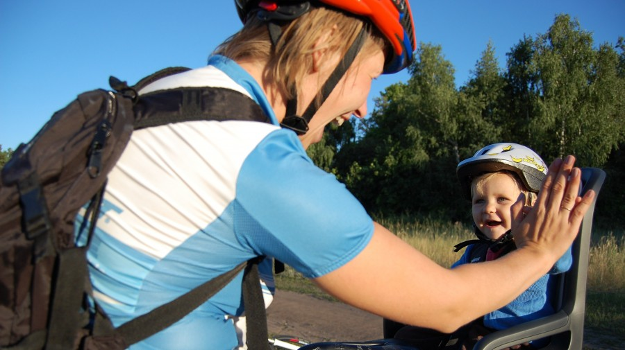 RideGiant: Первый день, когда наша малышка смогла составить нам компанию в езде на байках!