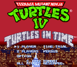 Teenage Mutant Ninja Turtles IV - Turtles in Time (U) [!]002