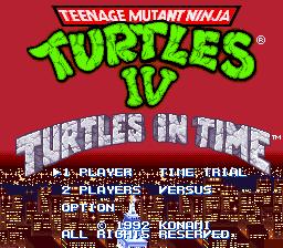 Teenage Mutant Ninja Turtles IV - Turtles in Time (U) [!]002