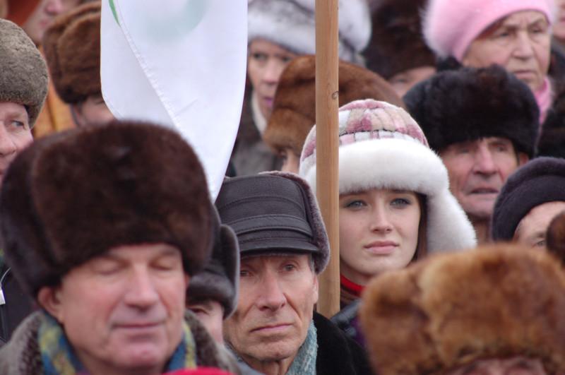 Симпатичные дамы тоже протестовали