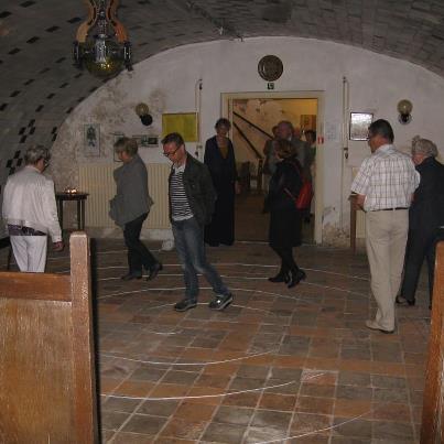 Spiraal lopen in de Lutherse Kerk van Breda