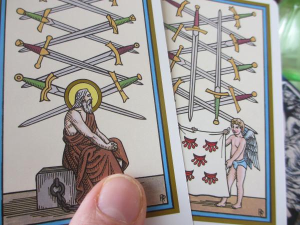 Tarot of Saints, 9 van de zwaarden, 10 van de zwaarden