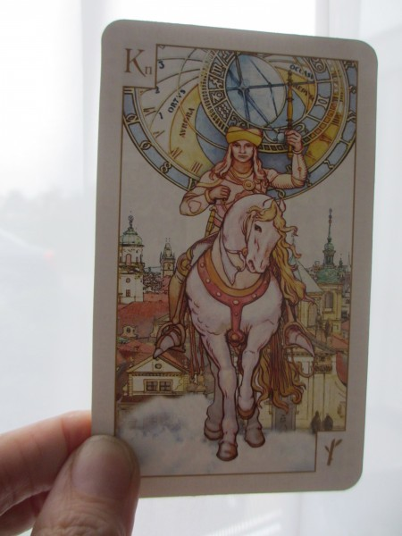 Tarot of Prague, ridder van staven