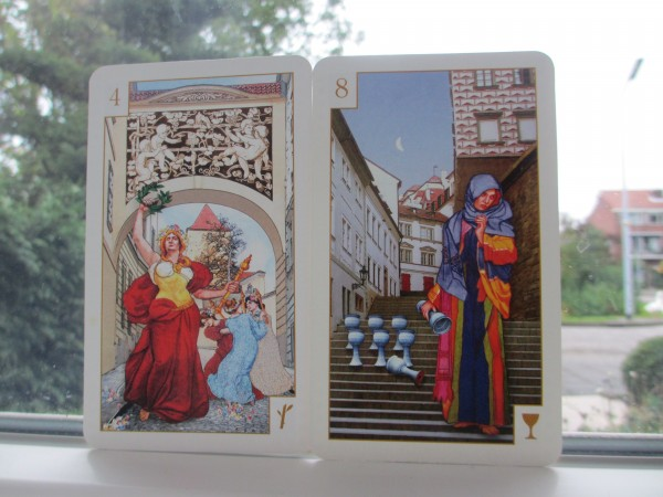 Tarot of Prague 4 van staven, 8 van staven