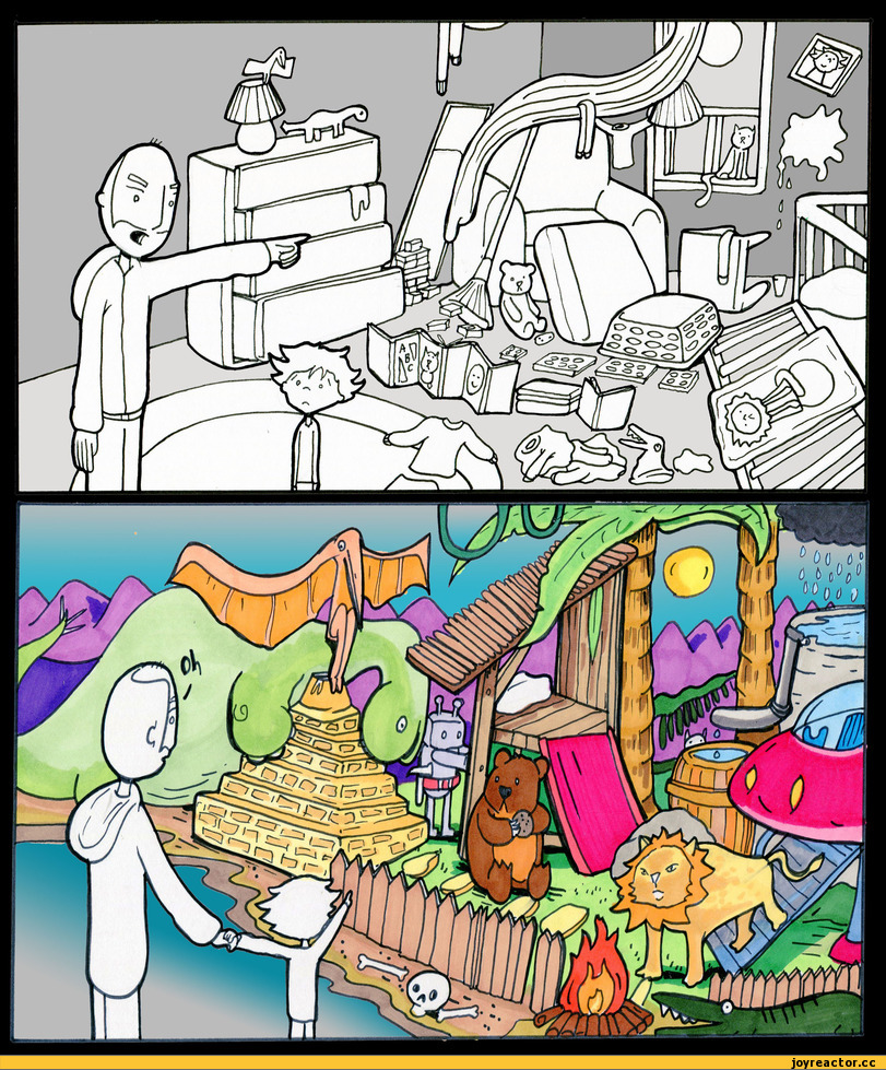 Комиксы-дети-беспорядок-воображение-496644