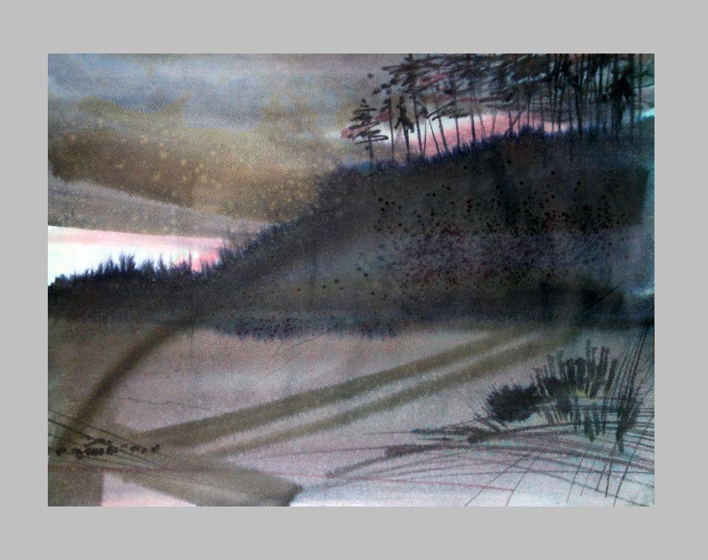 """Из серии \\""""Сибирские этюды\\"""", акварель, акрил, разм. 60х40 см, 2012 г."""