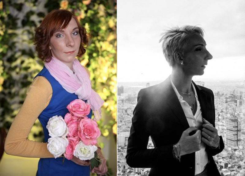 До и после. Это 2 фотосессии с макияжем, укладкой, костюмом и позированием, но с разницей в 7 лет. Когда есть вкус, те же деньги и усилия по подготовке к фотосессии приносят совсем другие результаты.