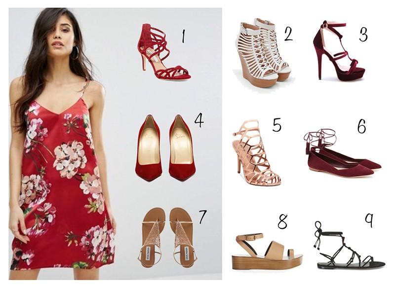 платье комбинация цветы с чем носить сет поливор обувь какая