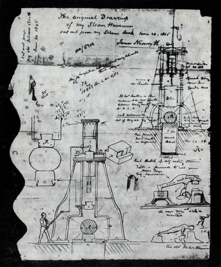 Нейсмит Дж 1842 паровой молот1