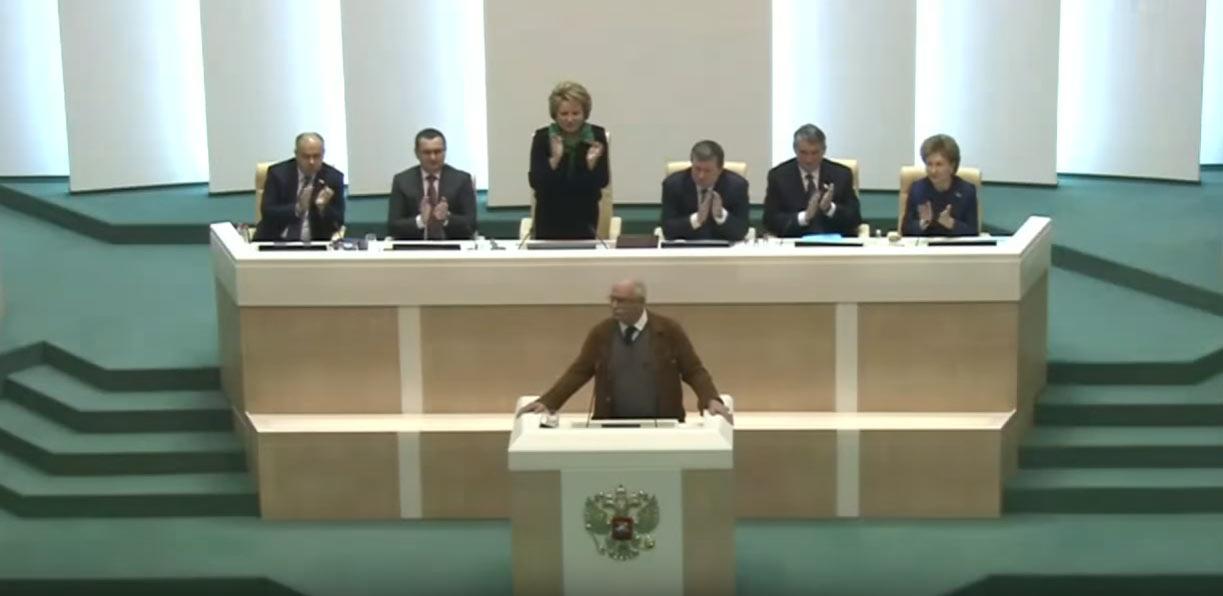 Выступление Никиты Михалкова в Совете Федерации