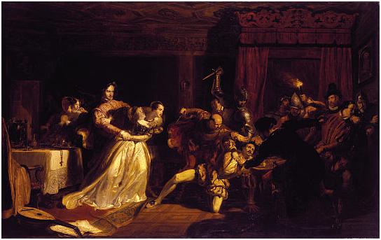 Sir William Allan. Убийство Давида Риччо