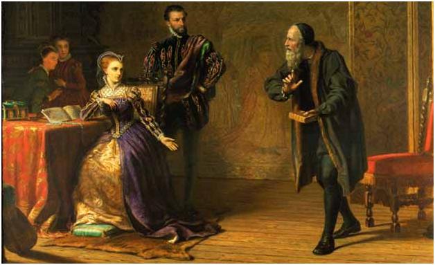Samuel Sidley. Мария, королева Шотландии, и Джон Нокс. Изображение с сайта maria-stuart.ru