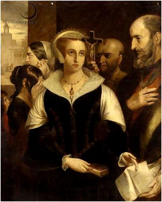 Alfred Elmore. Мария, королева Шотландии, принимает смертный приговор