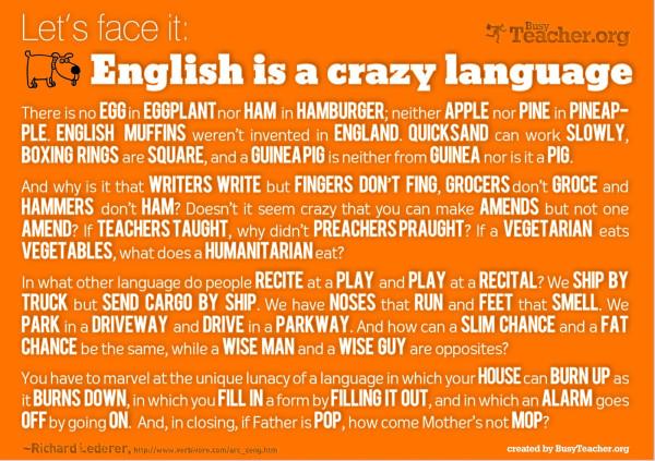 essay english language crazy language