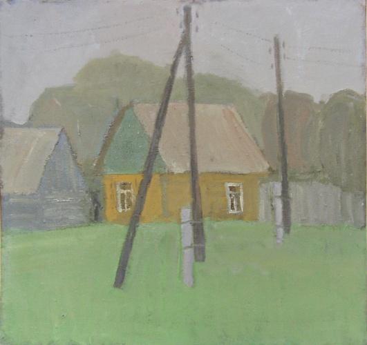 Желтый дом. 75х80.2005