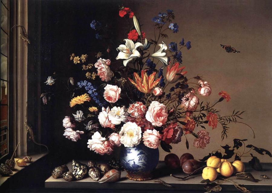 Ваза с цветами у окна1650-57