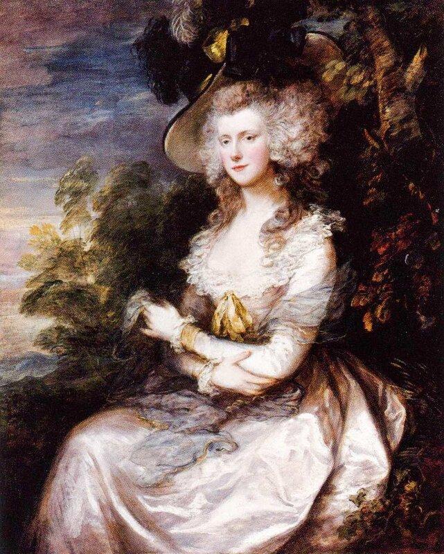 Томас Гейнсборо. Портрет миссис Томас Хибберт. 1786. Портрет находится в новой Пинакотеке Мюнхена.