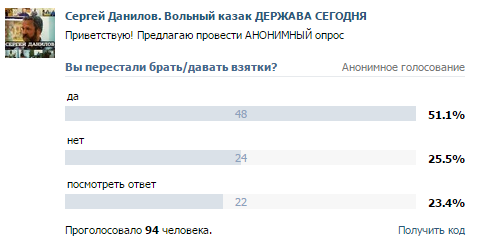 Сергей Данилов опрос