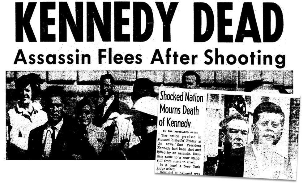 заголовки газет про убийство кеннеди