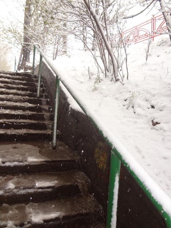 снег в Иркутске 2