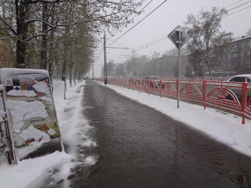 снег в Иркутске 3