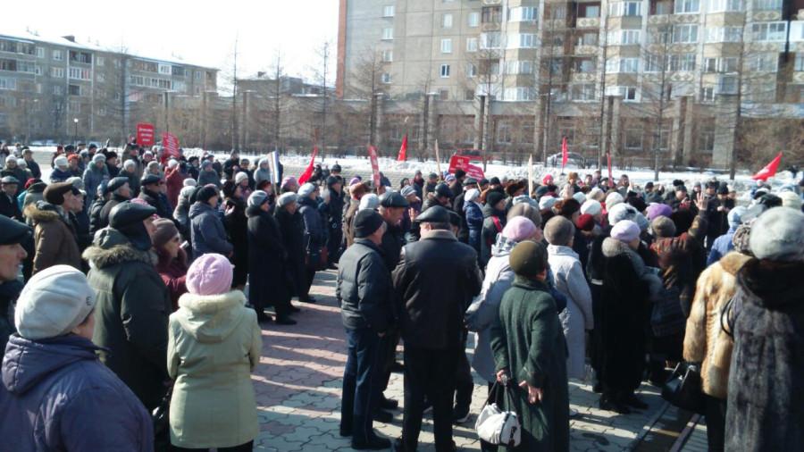 митинг в Ангарске