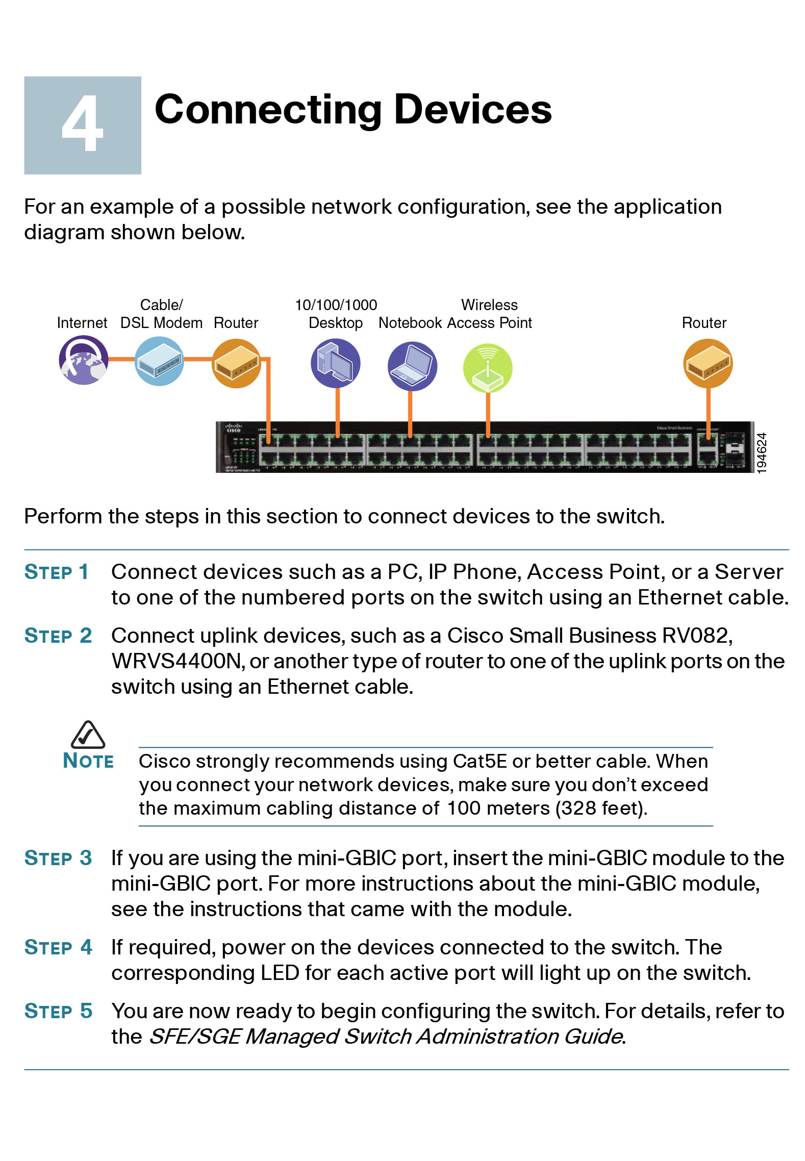 Cisco Small Business SFE/SGE Managed Switch  Quick Start Guide: bga68