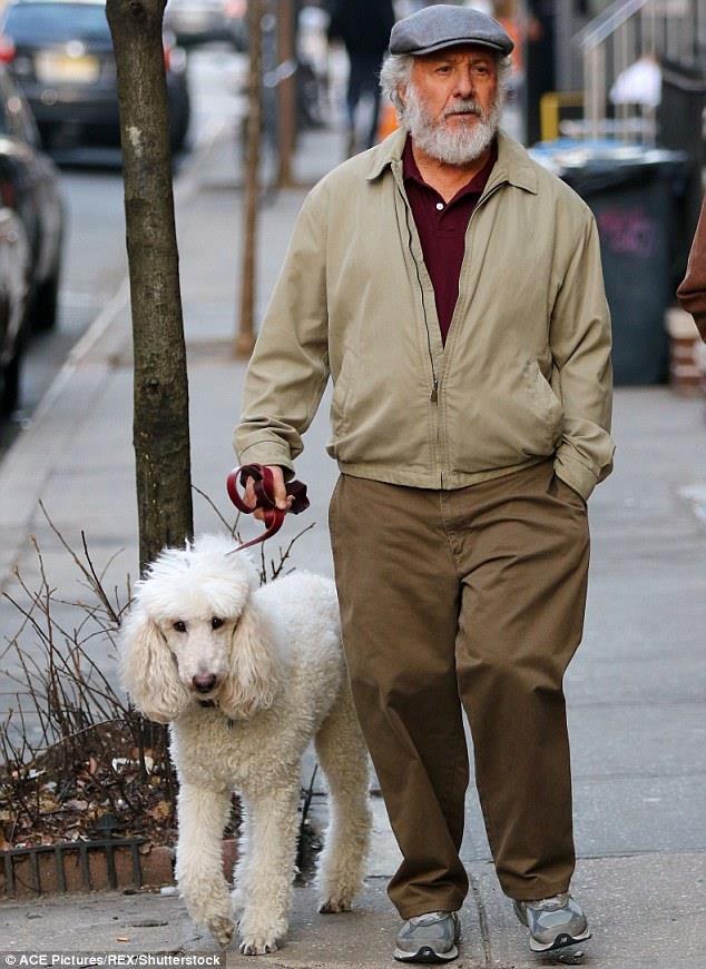 Dustin Hoffman и собака Таня