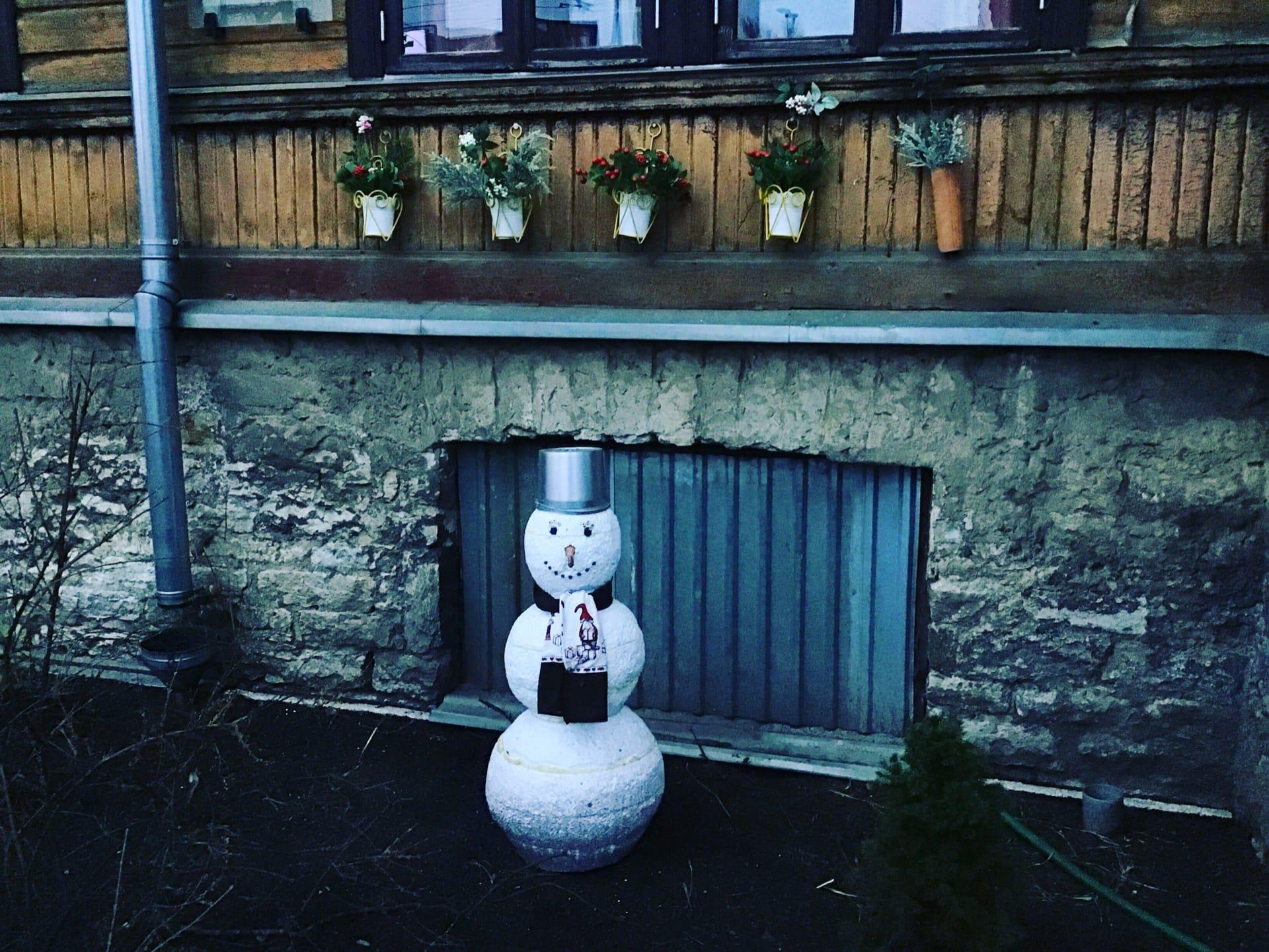В Таллине тоже зима весьма условная сейчас.