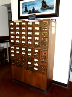C is for Card Catalogue