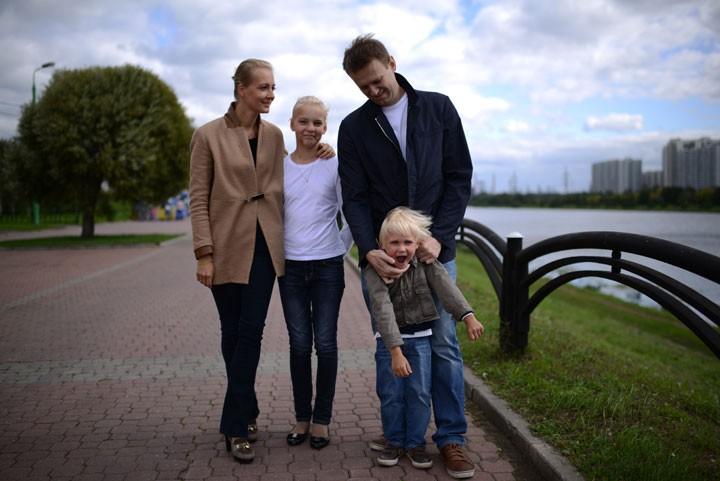 Навальный с семьёй