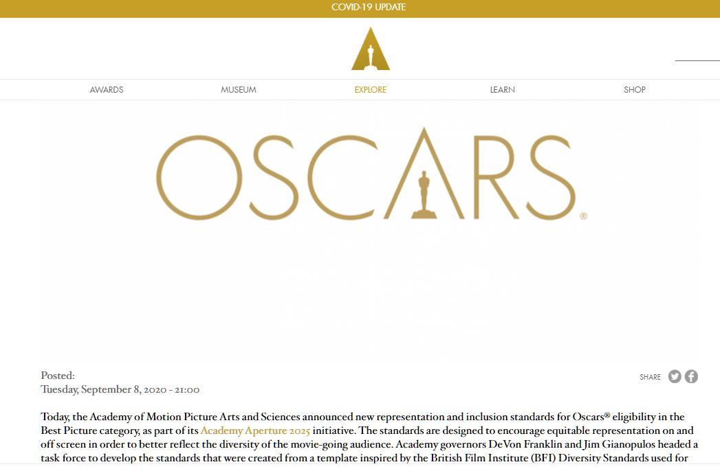 Новые стандарты киноакадемии Оскар на лучший фильм, или nothing lives forever. 01