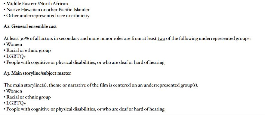 Новые стандарты киноакадемии Оскар на лучший фильм, или nothing lives forever. 03