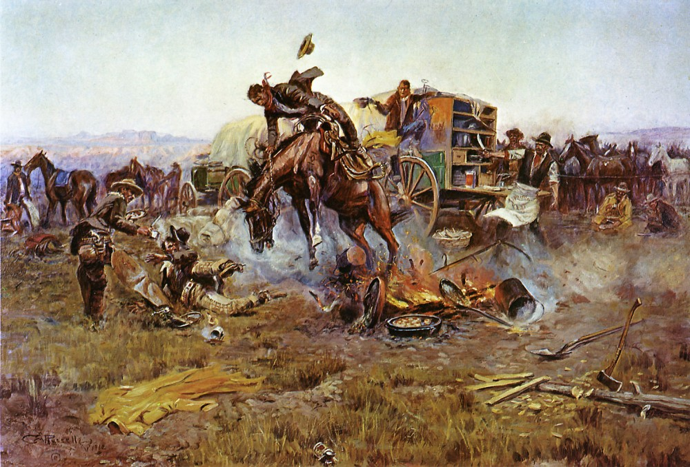 Camp_Cook's_Troubles_by_Charles_Marion_Russell