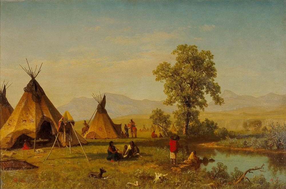 1396226516-albert-bierstadt-sioux-village-near-fort-laramie