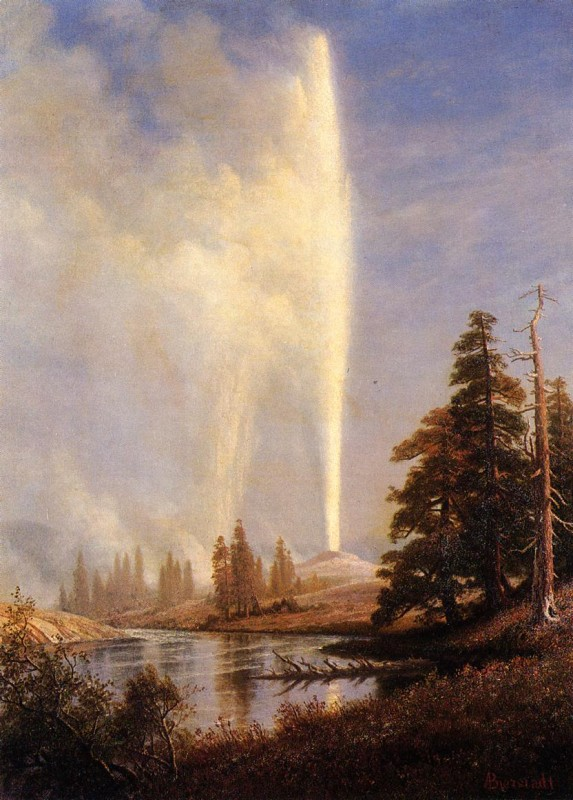 Albert Bierstadt Old Faithful