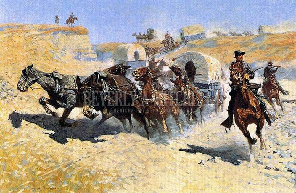 attack-on-the-supply-wagons_frederic-remington__47724__81774.1566354184