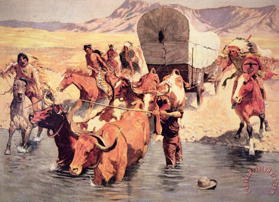 indians_attacking_a_pioneer_wagon_train