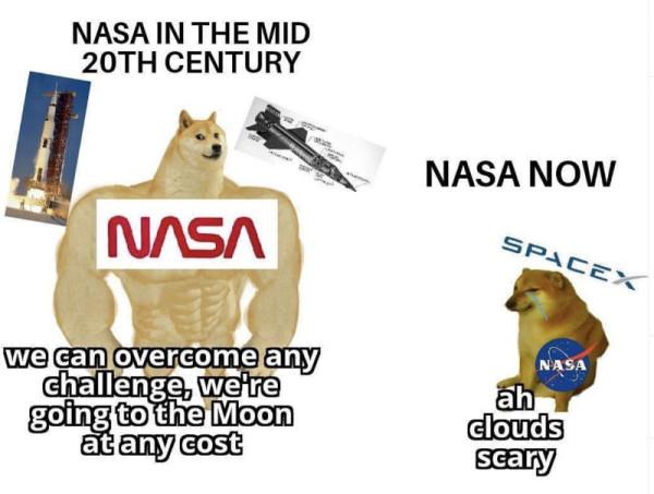 nasa-in-the-mid-20th-century-vs-nasa-now-swole-doge-meme