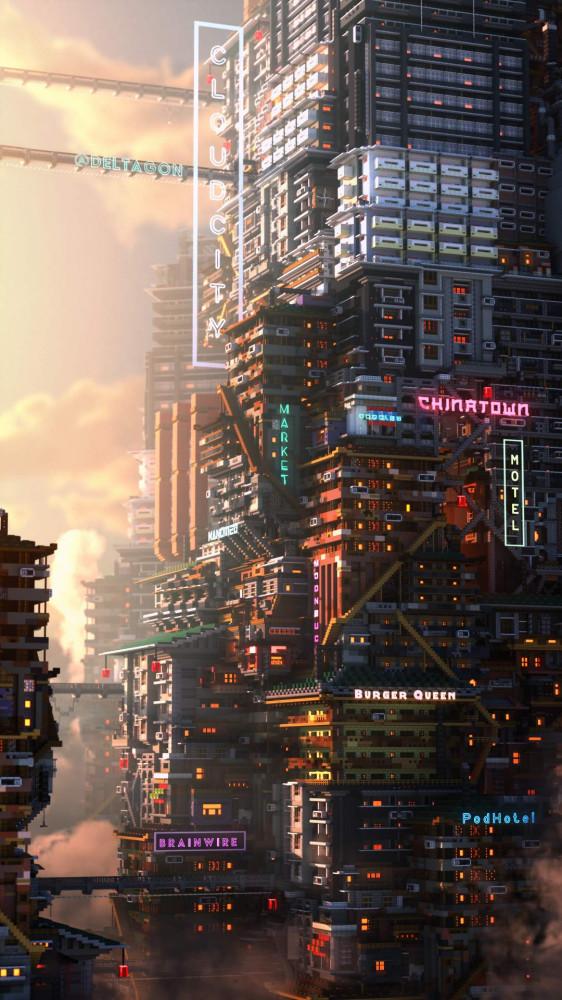 cyberpunk-Minecraft-Игры-Игровой-скриншот-6266543