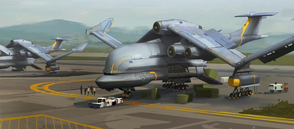 heavy plane