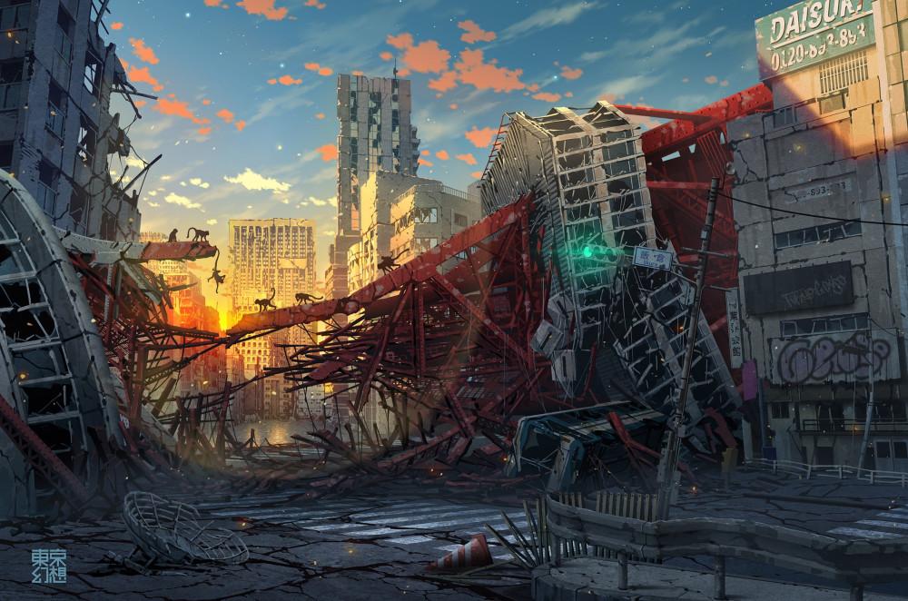 TOKYO_GENSO-красивые-картинки-art-post-apocalypse-6804044