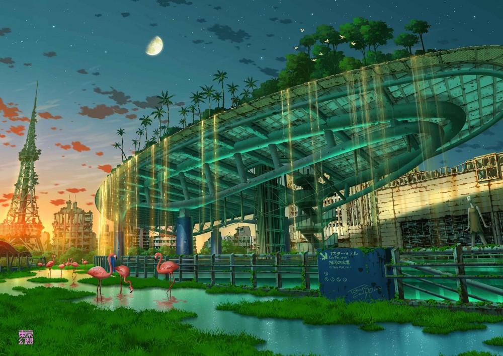 TOKYO_GENSO-красивые-картинки-art-post-apocalypse-6804048