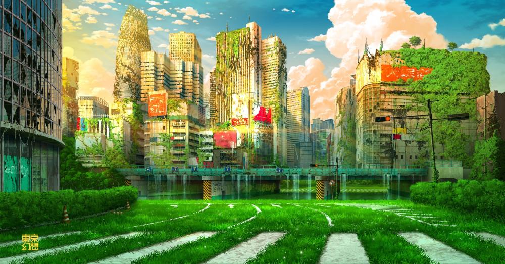 TOKYO_GENSO-красивые-картинки-art-post-apocalypse-6804050