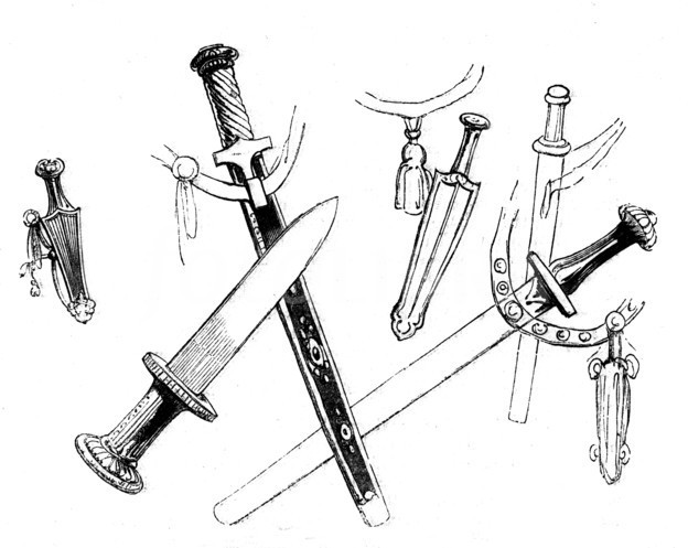 1099900-ancient-persian-swords-and-daggers