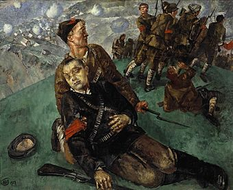 Death_of_Commissar_-_Sketch_(Kuzma_Petrov-Vodkin)