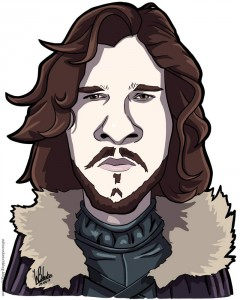 caricature-game-of-thrones-jon-snow
